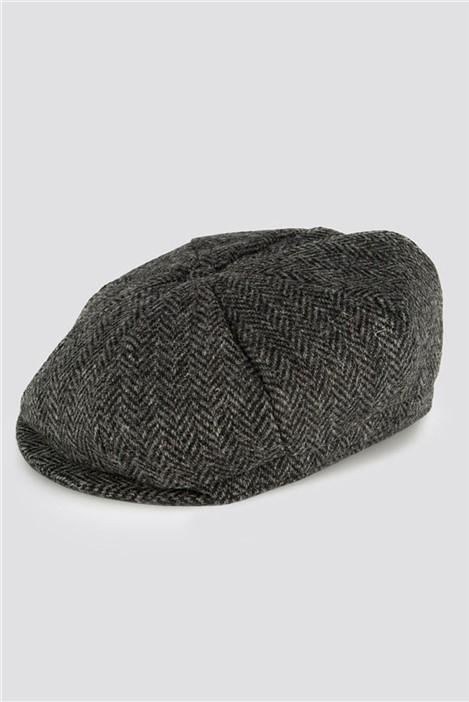 Gibson London Black Tweed Bakerboy Hat