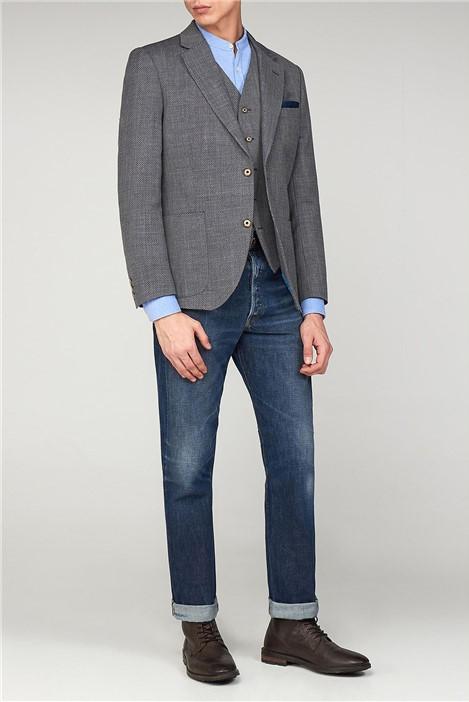 Gibson London Grey Basket Weave Jacket
