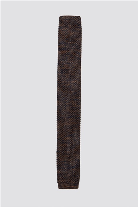 Gibson London Fawn and Navy Melange Knit Tie