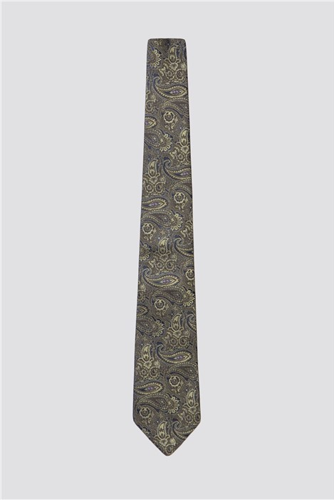 Gibson London Green Tonal Paisley Tie