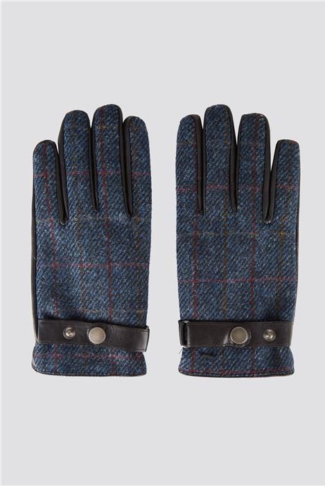 Gibson London Blue Check Harris Gloves