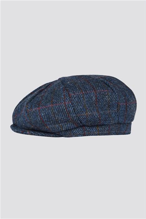 Gibson London Blue Check Harris Tweed Hat