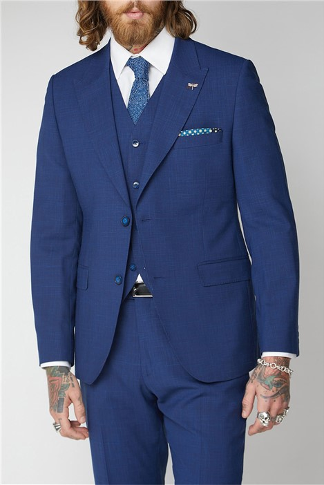 Gibson London Blue Textured Suit