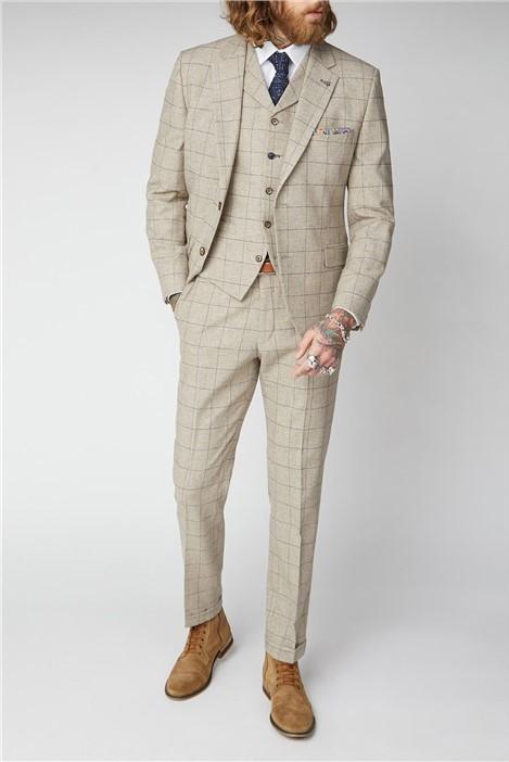 Gibson London Stone Windowpane Check Suit