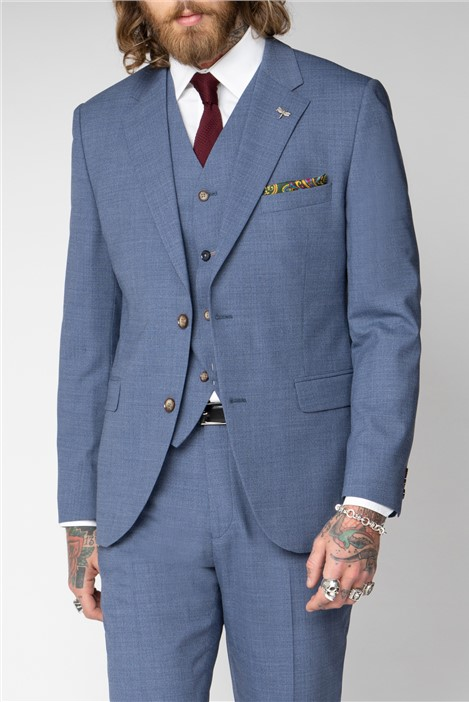 Gibson London Pale Blue Plain Suit