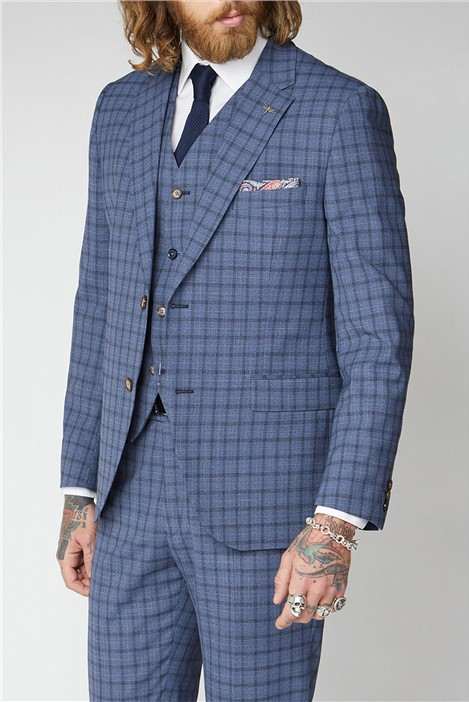 Gibson London Blue Check Suit