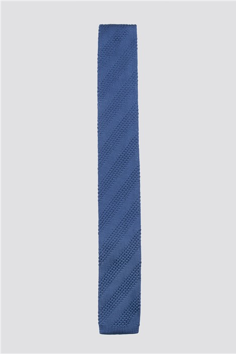 Gibson London Blue Knitted Tie