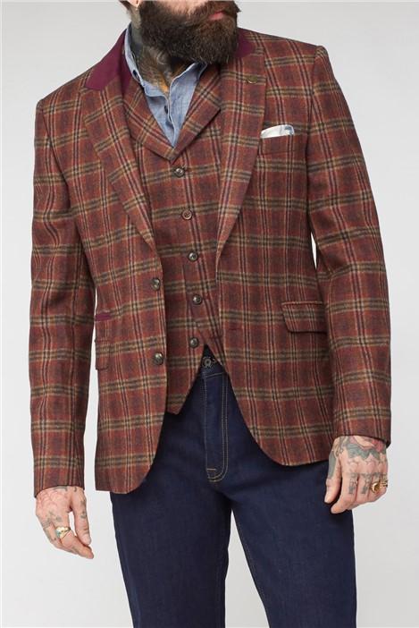 Gibson London Orange Check Jacket