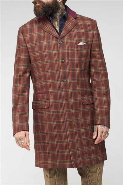Gibson London Orange Check Coat