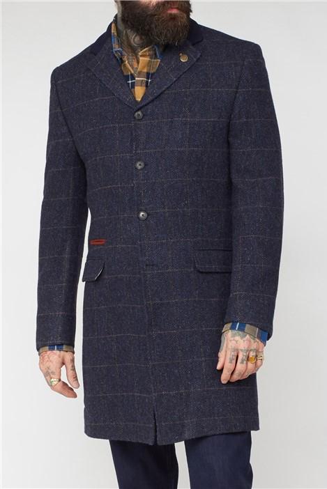 Gibson London Navy Shetland Coat
