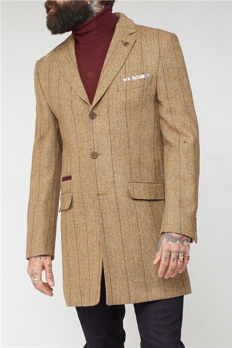 Gibson London Gold Herringbone Coat