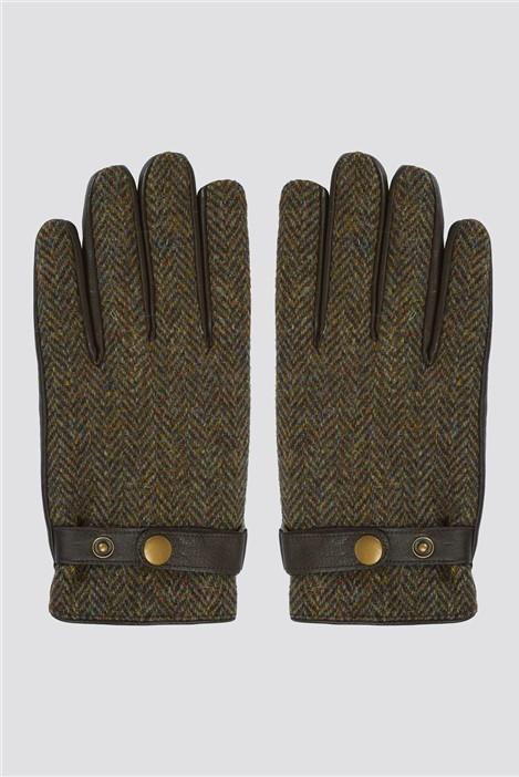 Gibson London Brown Harris Tweed Gloves
