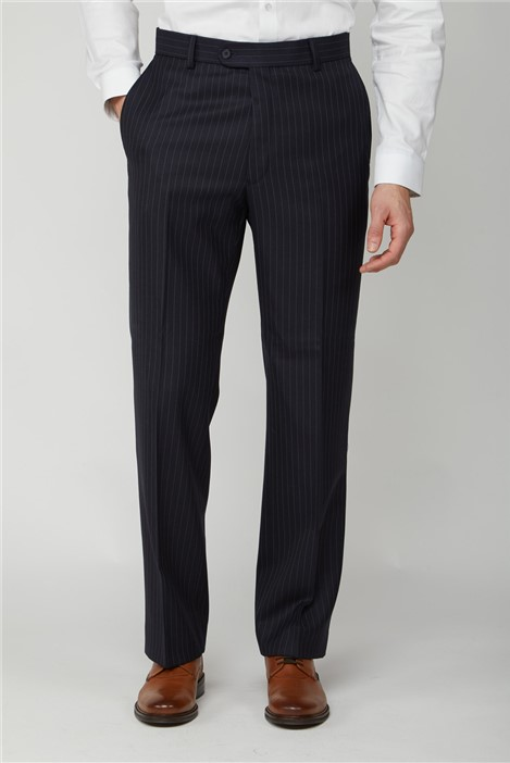 The Label Navy Pinstripe Trouser