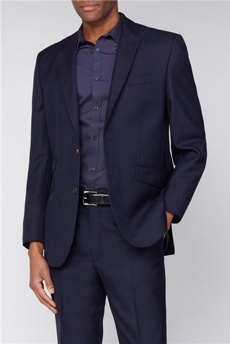The Label Esteem Navy Sharkskin Suit