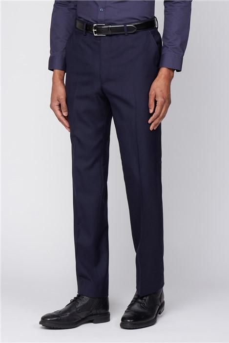 The Label Esteem Navy Sharkskin Trousers