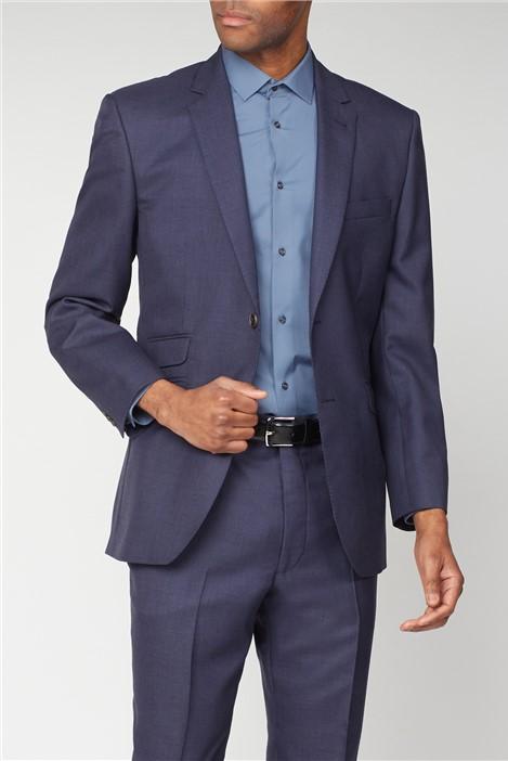 The Label Esteem Blue Sharkskin Suit Jacket
