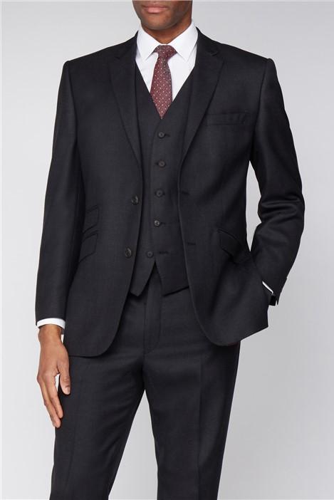 The Label Esteem Charcoal Sharkskin Suit