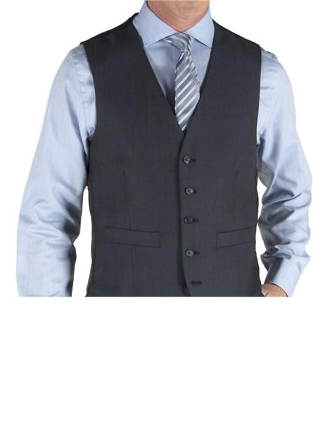 Pierre Cardin Blue Tonic Wool Blend Waistcoat