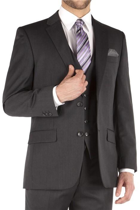 Pierre Cardin Charcoal Twill Regular Fit Suit Jacket