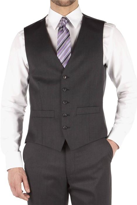 Pierre Cardin Charcoal Twill Regular Fit Waistcoat