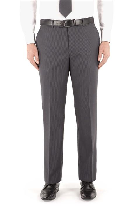Pierre Cardin Grey/Blue Stripe Suit Trouser