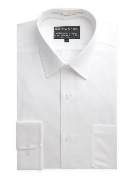 Racing Green Hardie White Tailored Fit Shirt