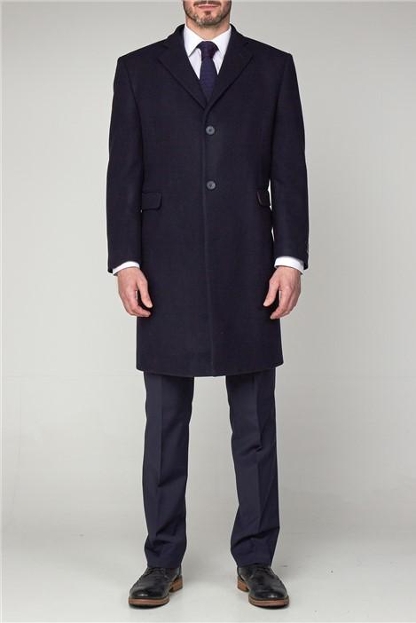 Scott by The Label Navy Melton Overcoat