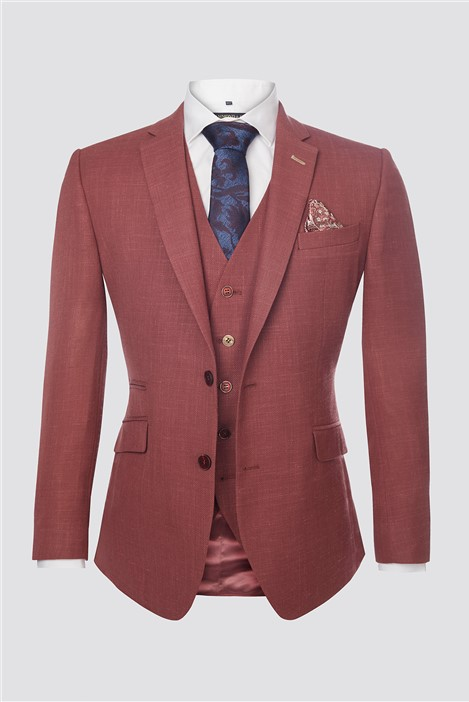 Scott by The Label Berry Textured Contemporary Jacket