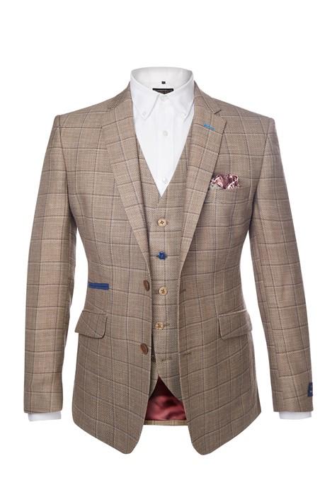 Scott by Scott by The Label Stone & Blue Overcheck Suit Jacket