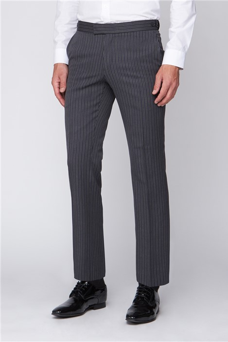 Men's Black Striped Masonic Morning Suit Trousers