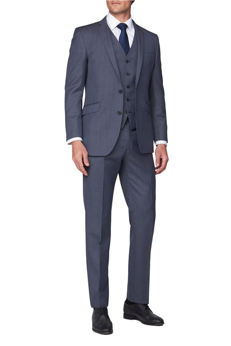 Scott by The Label Blue Sharkskin Contemporary Fit Suit Jacket