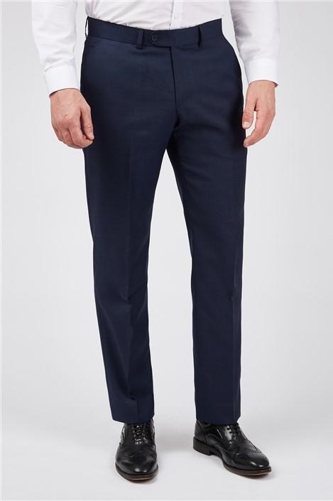 Scott by The Label Ink Blue Sharkskin Premier Trousers