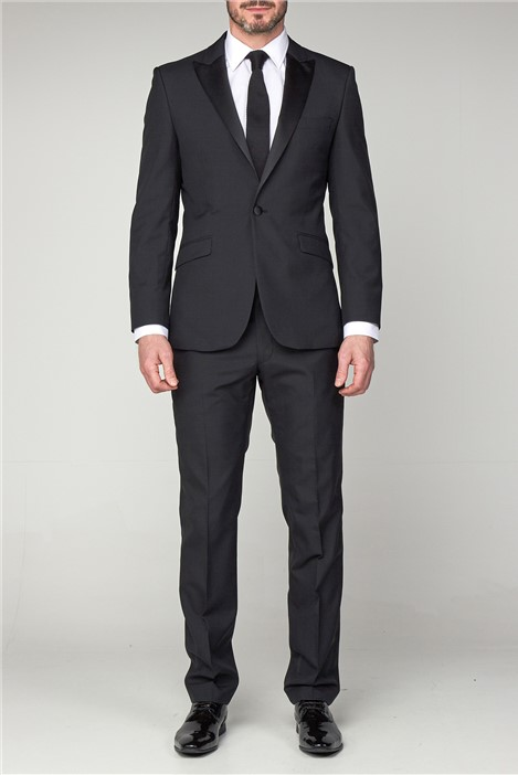 Scott by The Label Tailored Fit Black Dinner Trousers