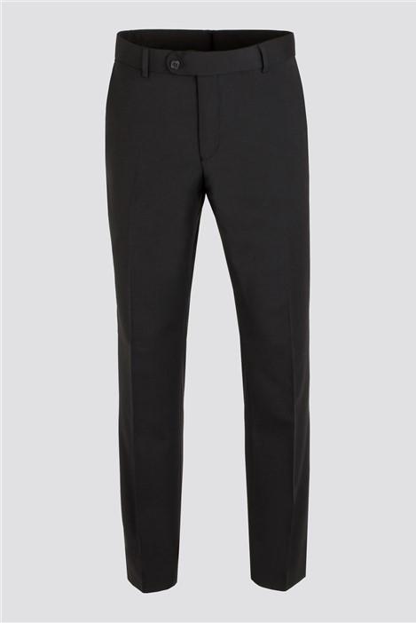 Scott by The Label Black Plain Front Trousers