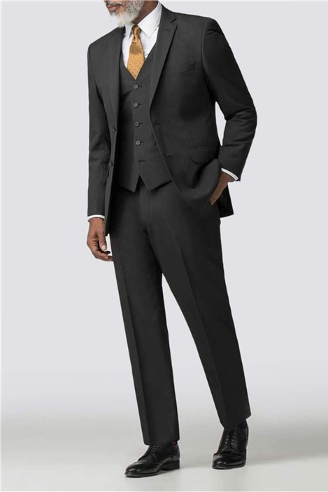 Scott & Taylor Charcoal Panama Regular Fit Suit