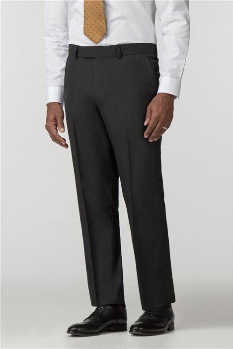 Scott & Taylor Charcoal Panama Regular Fit Suit Trouser