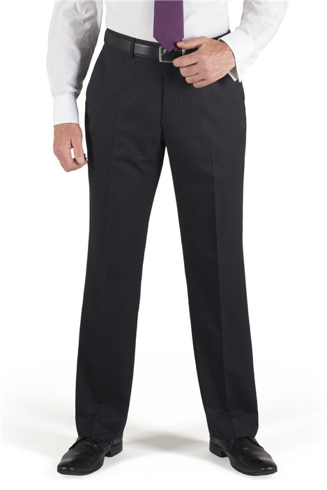 Scott & Taylor Navy Stripe Suit Trouser