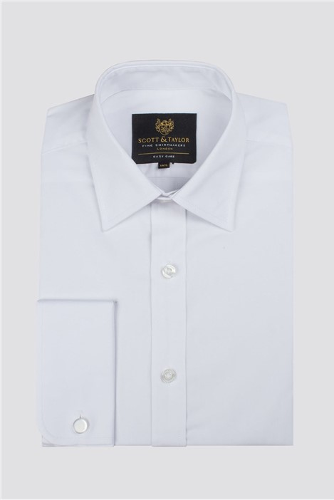 Scott & Taylor White Double Cuff Shirt