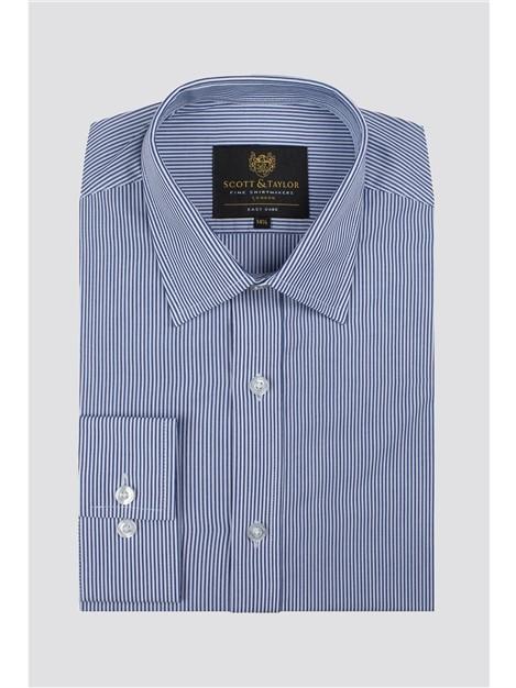 Scott & Taylor Blue Bengal Stripe Shirt