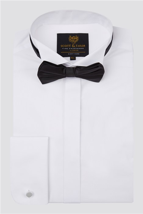 Scott & Taylor White Wing Collar Shirt & Bow Tie Set