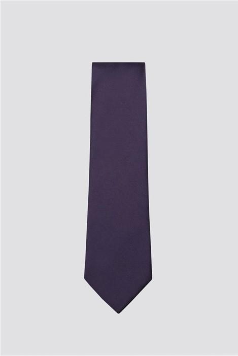 Scott & Taylor Purple Plain Textured Tie