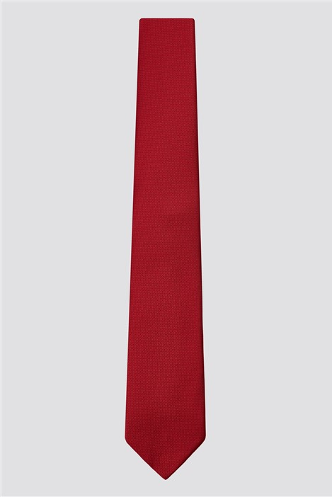 Scott & Taylor Red Plain Tie