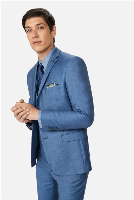 Ted Baker Light Blue Pick and Pick Slim Suit