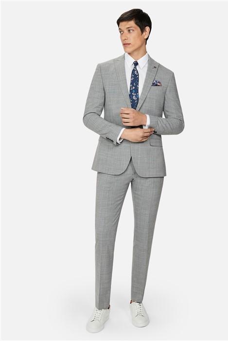 Ted Baker Grey Crosshatch Slim Fit Suit