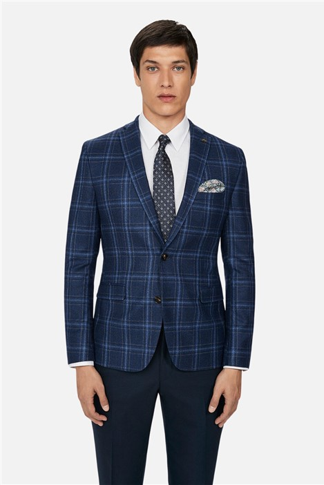 Ted Baker Bright Blue Check Skinny Jacket