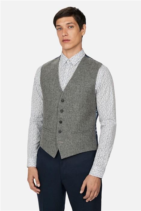 Ted Baker Grey Melange Woollen Regular Waistcoat