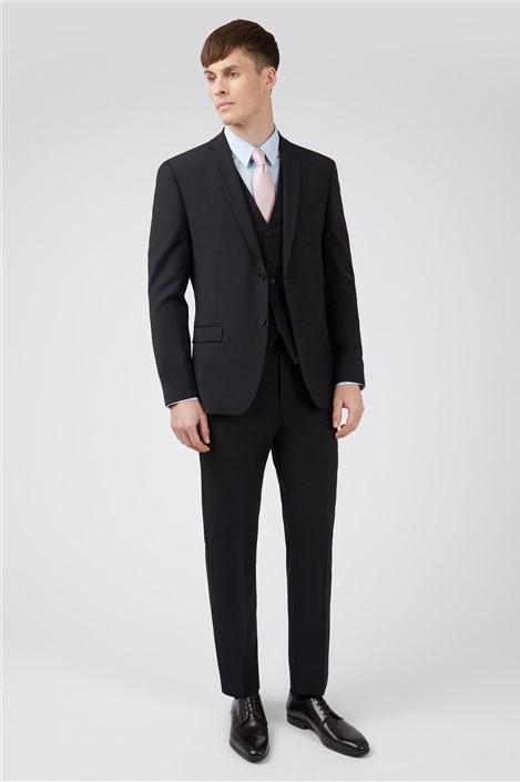 Ted Baker Black Panama Regular Suit