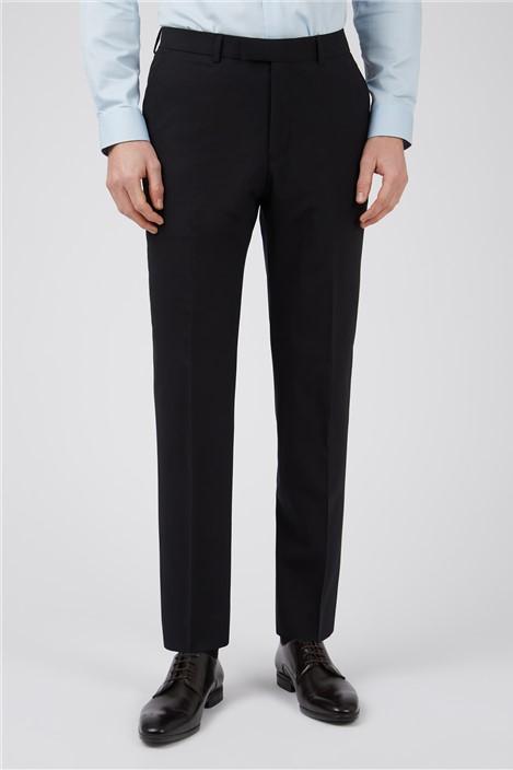 Ted Baker Black Panama Slim Suit Trousers