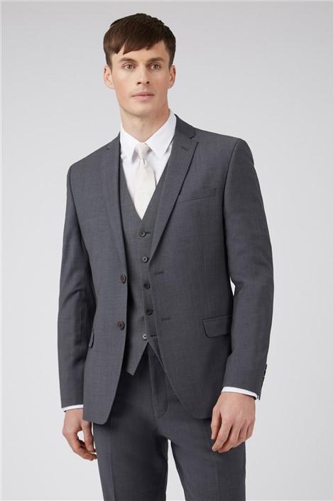 Ted Baker Charcoal Panama Regular Suit