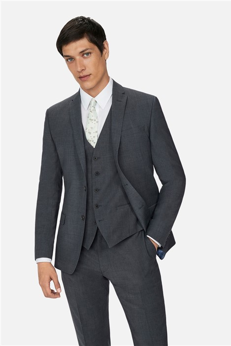 Ted Baker Charcoal Panama Slim Suit
